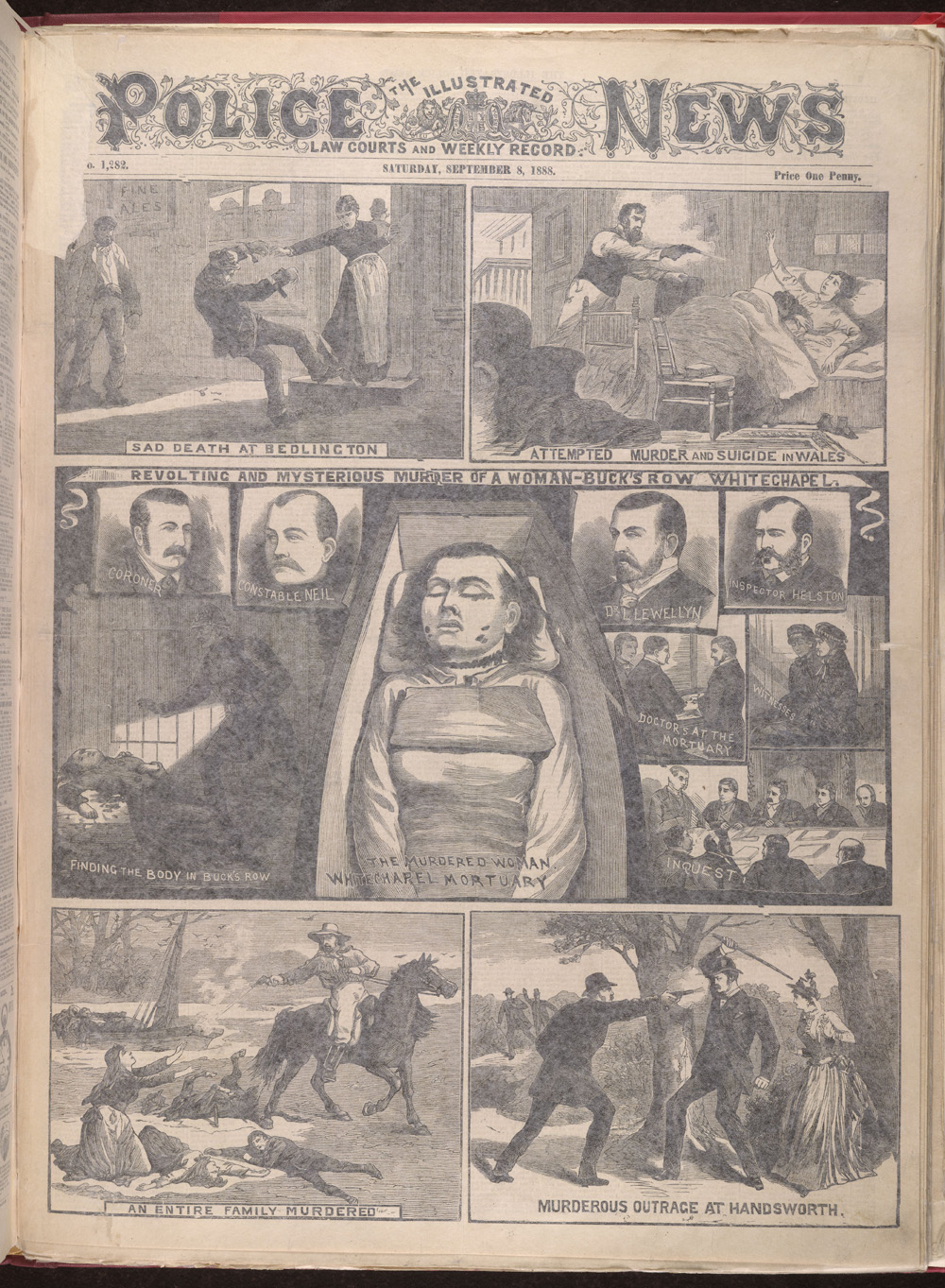 Jack the Ripper, Illustrated Police News, 1888 (c) British Library Board