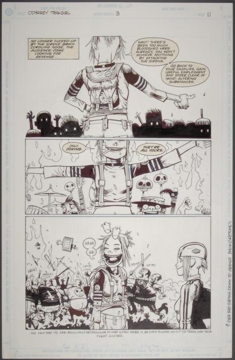 Original artwork for Tank Girl, 1995 (c) Jamie Hewlitt
