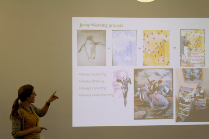Jenny talking about her work