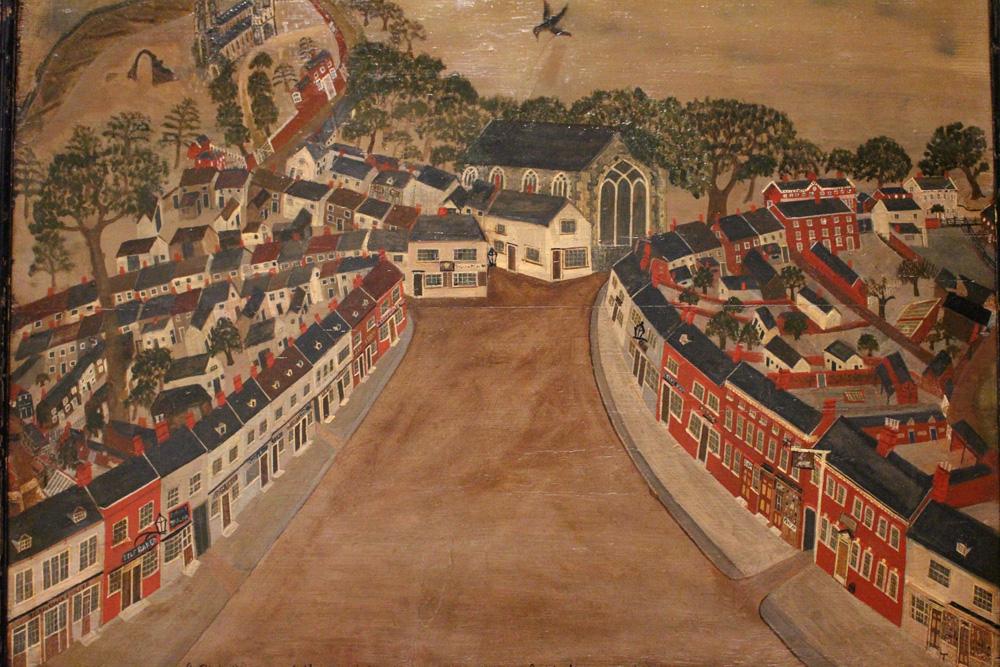 A Bird's Eye View of Market Street Wymondham c.1850
