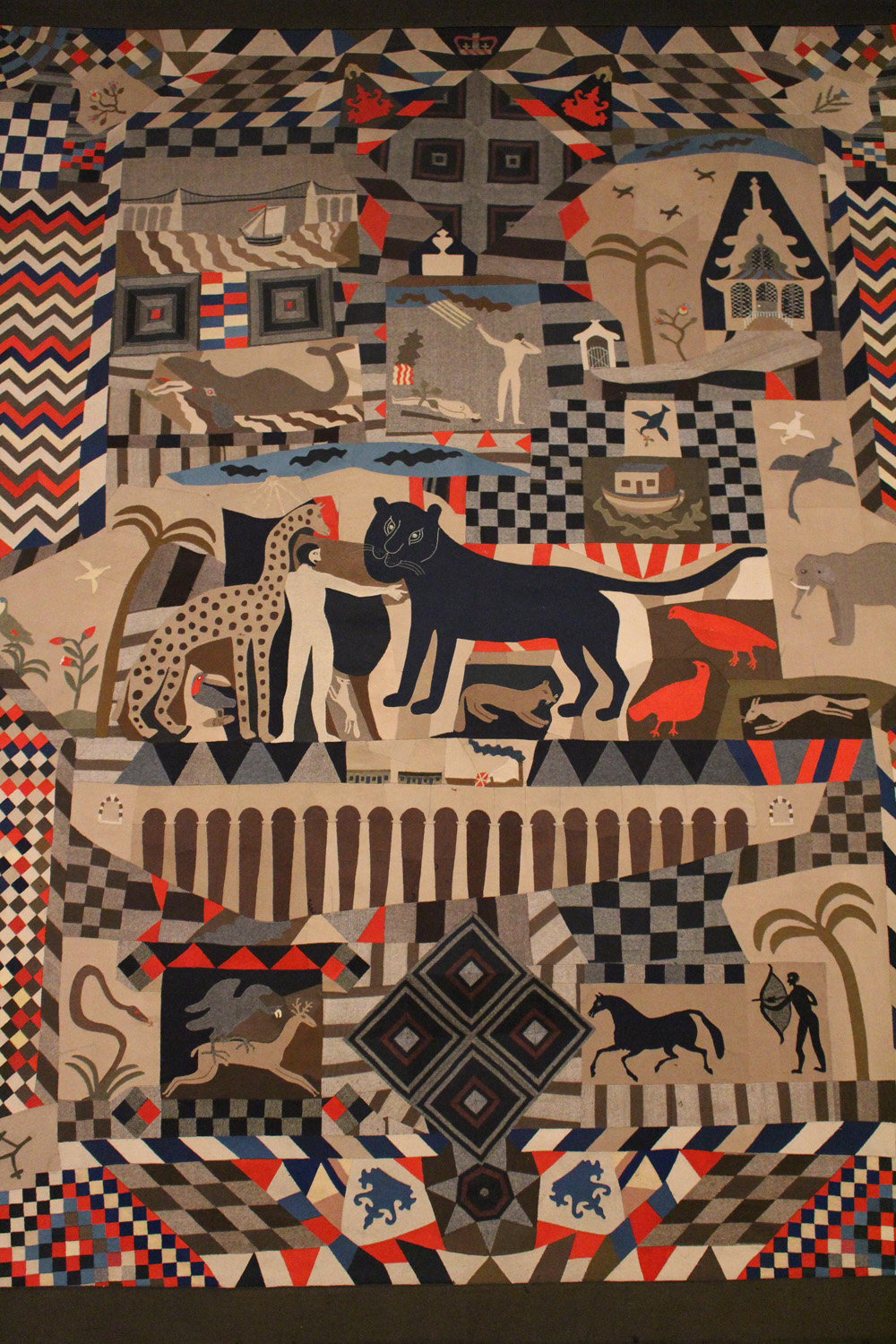 James Williams, Patchwork bedcover, 1818 - 1895