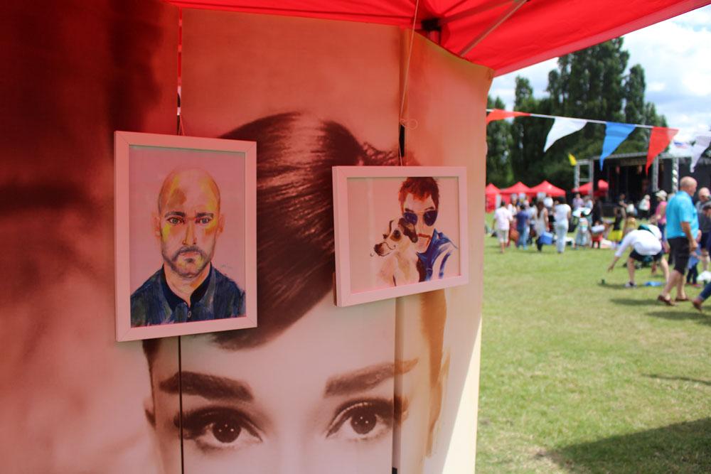 Audrey Hepburn and my portraits