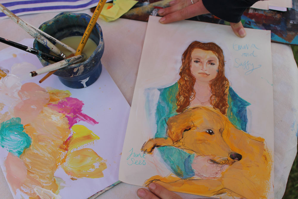 Portrait of Emma and Saffy the Pup
