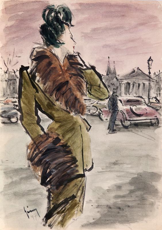 16. Gerd Grimm Frau im Speigel 1947 42x33 cms