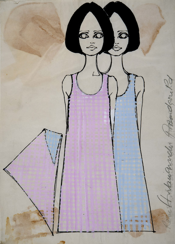 Barbara Hulanicki (1936 - ) BIBA Pink and Blue C1970
