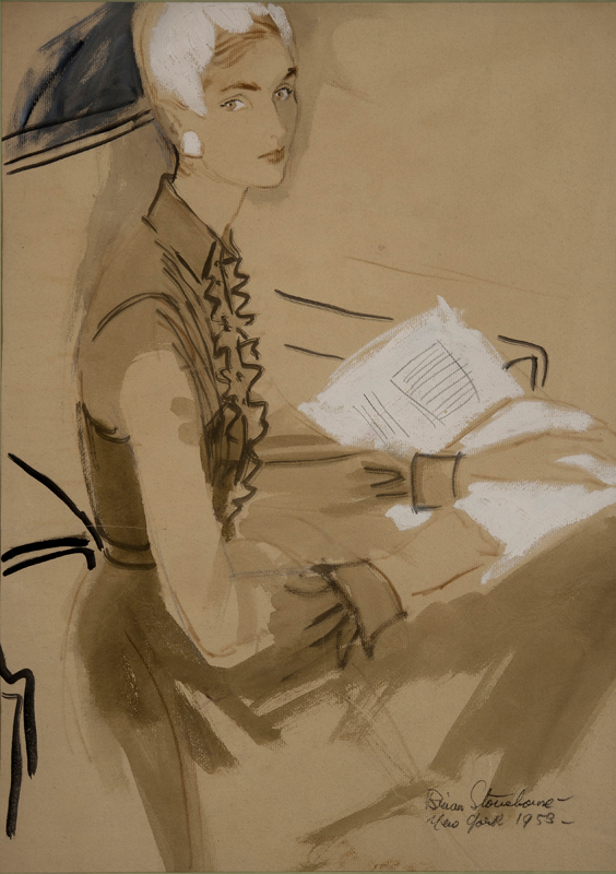 London Exhibition Presents Drawing On Style Four Decades Of Elegance Fashion Illustrations