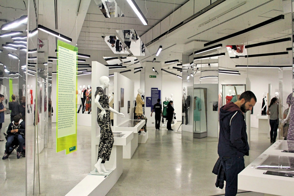 Interior shot of the Women Fashion Power exhibition at Design Museum.jpg