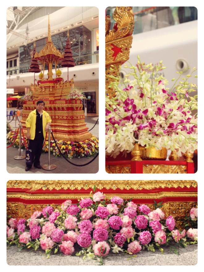 I'm so proud of Dad invited to arrange flowers for the The Colours of Thailand event at Westfield, Shephard's Bush London