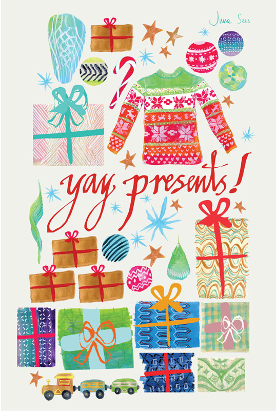 Junesees.com-Yay-Presents-Greetings-Card-2014-800px