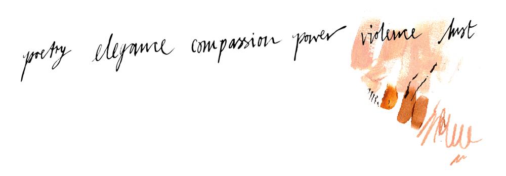 June-Sees-handwriting-Poetry-elegance-compassion-power-violence-lust