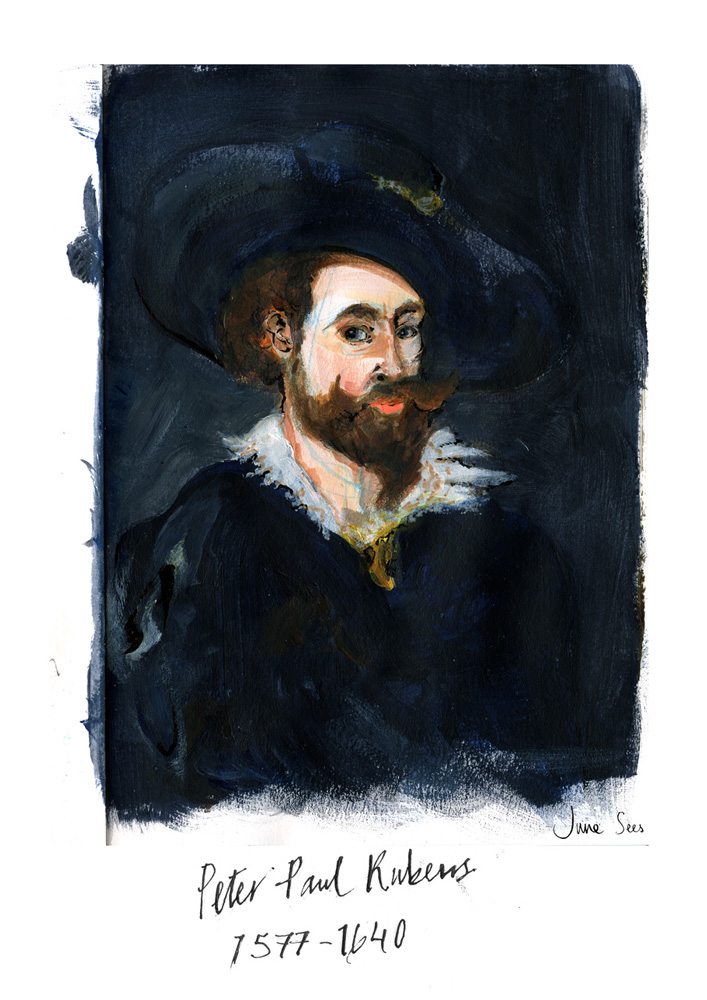 June-Sees-illustrated-painted portrait-of-Peter-Paul-Rubens
