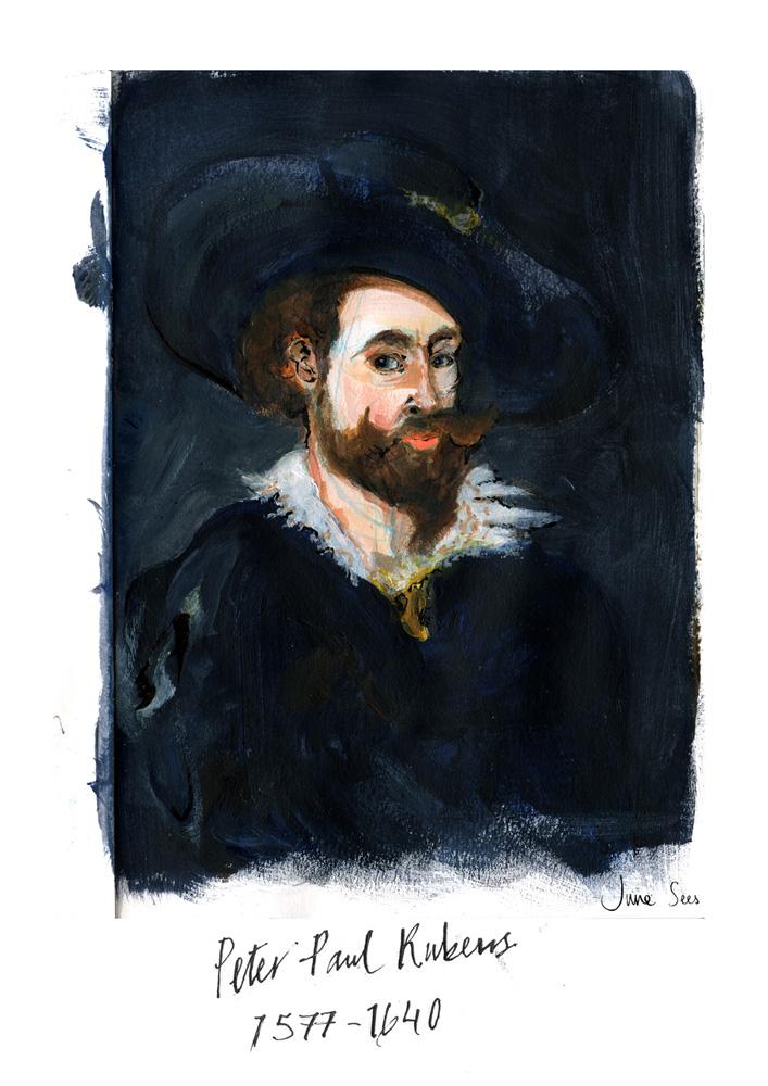 June-Sees-illustrated-painted portrait-of-Peter-Paul-Rubens