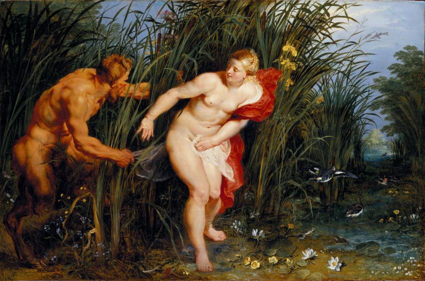 Peter Paul Rubens Pan and Syrinx, 1617 Oil on panel, 40 x 61 cm