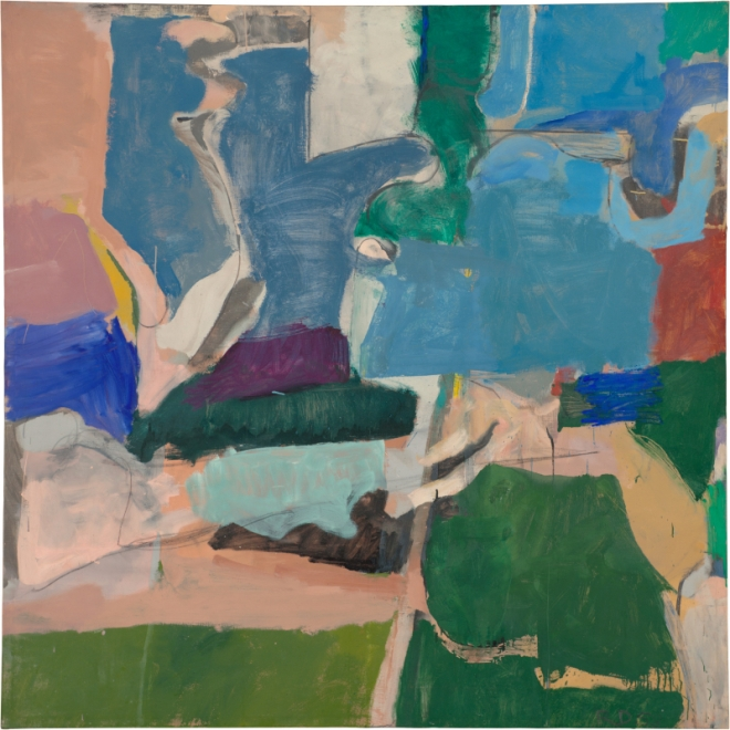 Richard Diebenkorn Berkeley #5, 1953 Oil on canvas, 134.6 x 134.6 cm Private collection Copyright 2014 The Richard Diebenkorn Foundation
