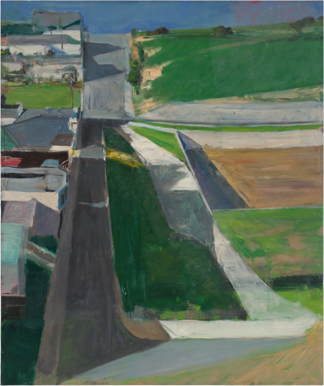 Richard Diebenkorn Cityscape #1, 1963 Oil on canvas, 153 x 128.3 cm San Francisco Museum of Modern Art. Purchased with funds from Trustees and friends in memory of Hector Escobosa, Brayton Wilbur, and J.D. Zellerbach Copyright 2014 The Richard Diebenkorn Foundation