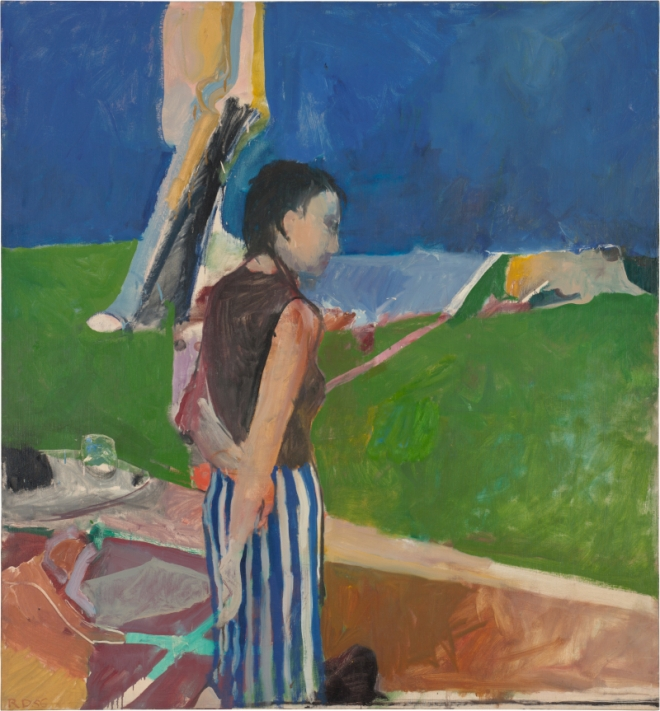 Richard Diebenkorn, Girl On a Terrace, 1956 Oil on canvas, 179.07 x 166.05 x 2.54 cm Collection Neuberger Museum of Art Purchase College, State University of New York. Gift of Roy R. Neuberger Copyright 2014 The Richard Diebenkorn Foundation