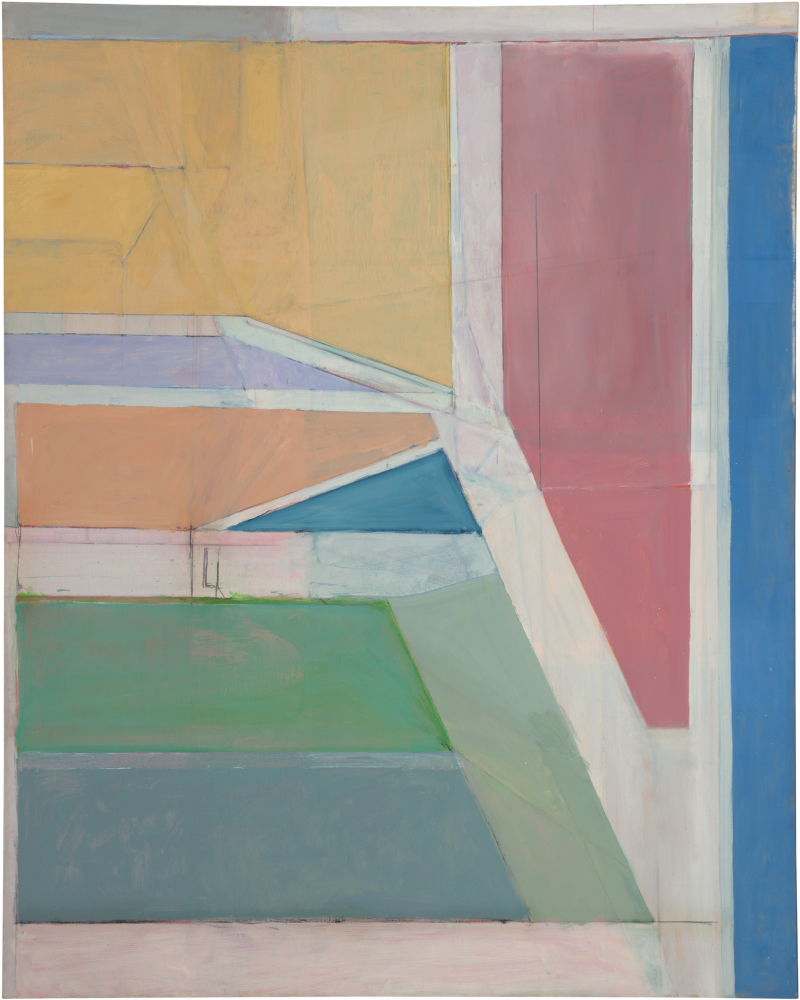 Richard Diebenkorn Ocean Park #27, 1970 Oil on canvas, 254 x 203.2 cm Brooklyn Museum. Gift of The Roebling Society and Mr. and Mrs. Charles H. Blatt and Mr. and Mrs. William K. Jacobs, Jr., 72.4 Copyright 2014 The Richard Diebenkorn Foundation
